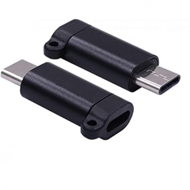 ADAPTER MICRO USB TO TYPE C BLACK AM/T