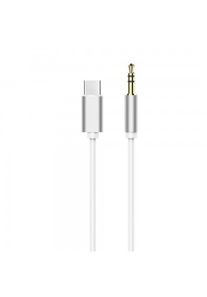 ADAPTER HF/AUDIO TYPE C - JACK 3.5mm WHITE CABLE (MALE)