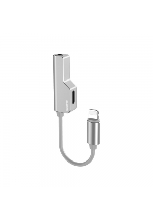 Adapter Remax Lightning to Lightning + AUX 3.5mm Jack Silver RL-LA02i