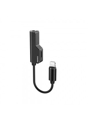 Adapter Remax Lightning to Lightning + AUX 3.5mm Jack Black RL-LA02i