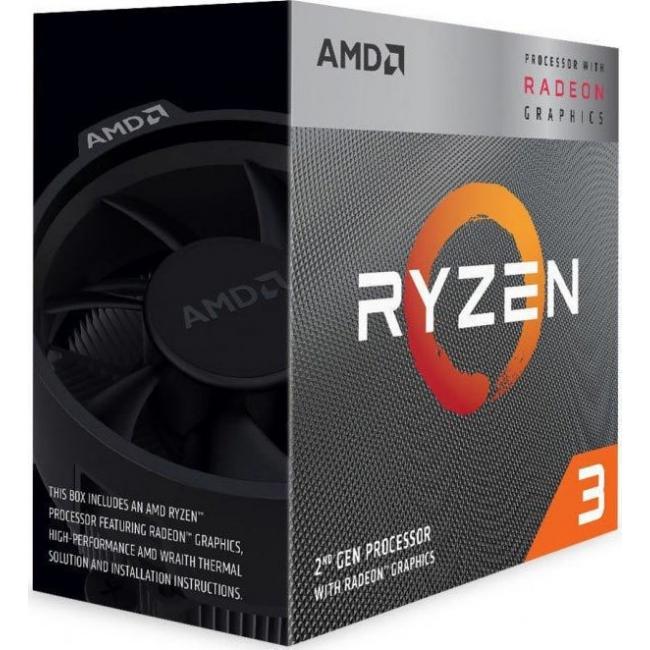 CPU AMD AM4 RYZEN 3 3200G 4GHz BOX YD3200C5FHBOX