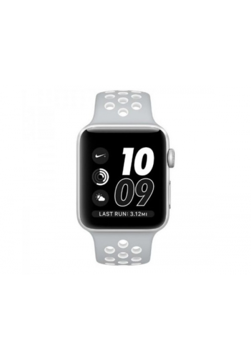 APPLE WATCH NIKE+ 38mm SILVER ALUMINUM CASE WHITE (MNNQ2) (ΜΕ ΑΝΤΑΠΤΟΡΑ) EU