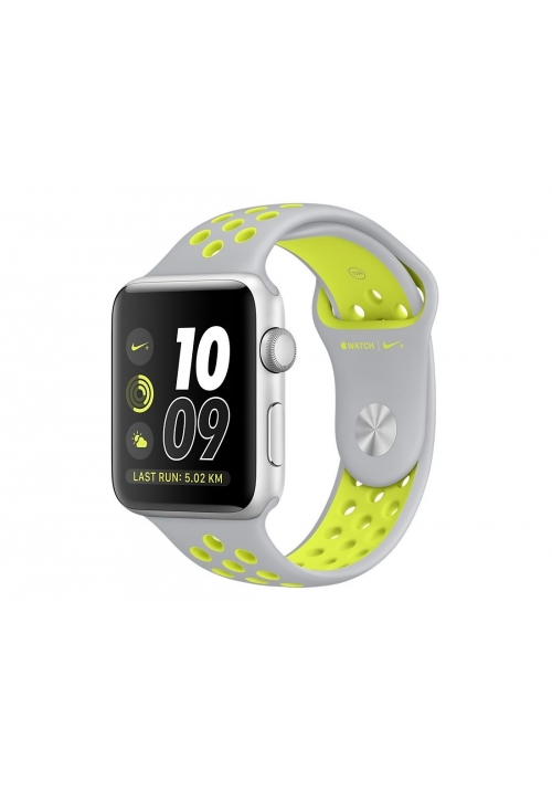 APPLE WATCH NIKE+ 38mm SILVER ALUMINUM CASE-SILVER VOLT (MNYP2) (ΜΕ ΑΝΤΑΠΤΟΡΑ) EU