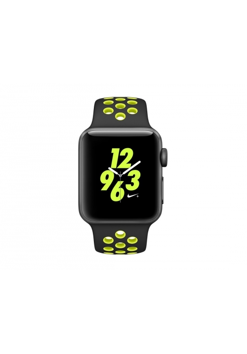APPLE WATCH NIKE+ 38mm GREY ALUMINUM CASE BLACK  VOLT (MP082) (ΜΕ ΑΝΤΑΠΤΟΡΑ) EU