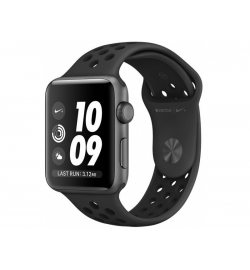 APPLE WATCH NIKE+ 38mm GRAY ALUMINUM CASE ANTHRAC BLACK (MQ162) (ΜΕ ΑΝΤΑΠΤΟΡΑ) EU