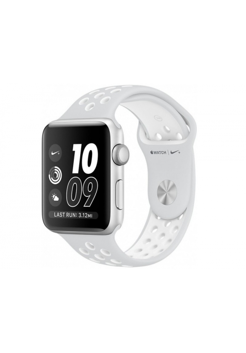 APPLE WATCH NIKE+ 38mm SILVER ALUMINUM CASE WHITE (MQ172) (ΜΕ ΑΝΤΑΠΤΟΡΑ) EU