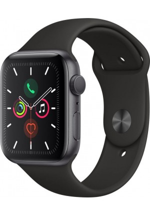 APPLE WATCH 5 40mm GPS+CELLULAR GREY ALUMINUM WITH BLACK SPORT BAND EU (MWX32)