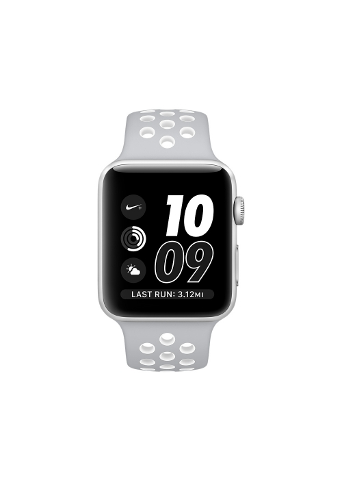 APPLE WATCH NIKE+ 42mm SILVER ALUMINUM CASE ΜΕ SILVER/COOL (MNNT2) (ΜΕ ΑΝΤΑΠΤΟΡΑ) EU
