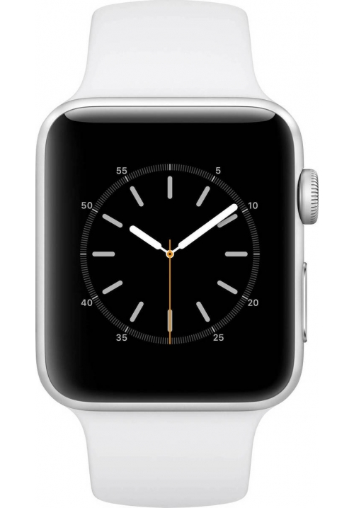 APPLE WATCH 2 42mm SILVER SPORT BAND WHITE MNPJ2 (ΜΕ ΑΝΤΑΠΤΟΡΑ) EU