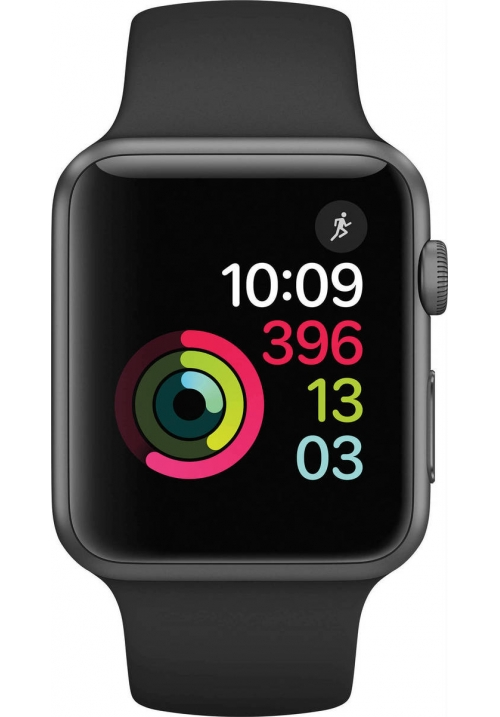 APPLE WATCH SERIES 1 38mm GREY BAND BLACK MP022 (ΜΕ ΑΝΤΑΠΤΟΡΑ) EU