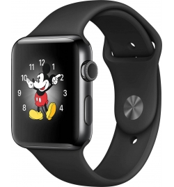 APPLE WATCH 2 42mm BLACK STAINLESS SPORT BAND BLACK MP4A2 (ΜΕ ΑΝΤΑΠΤΟΡΑ) EU