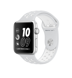 APPLE WATCH NIKE+ 42mm GRAY ALUMINUM CASE WHITE (MQ192) (ΜΕ ΑΝΤΑΠΤΟΡΑ) EU