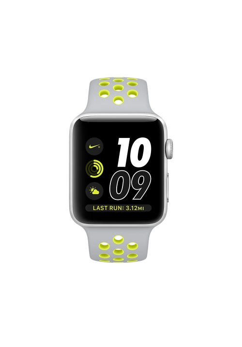 APPLE WATCH NIKE+ 42mm SILVER ALUMINUM CASE ΜΕ SILVER/VOLT NIK (MNYQ2) (ΜΕ ΑΝΤΑΠΤΟΡΑ) EU