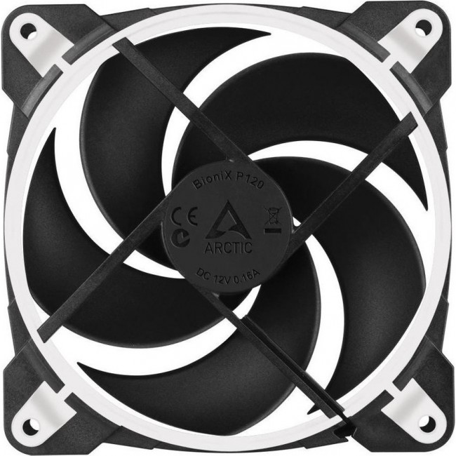 COOLING CASE FAN ARCTIC BIONIX P120 PRESSURE OPTIMISED 120mm GAMING PWM PST WHITE ACFAN00116A