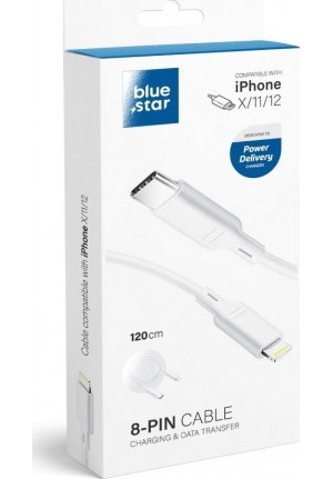 CABLE BLUE STAR DATA CABLE USB-C TO LIGHTNING
