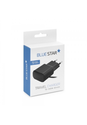 Blue Star micro USB Cable & Wall Adapter Μαύρο 2A New (5901737207753)