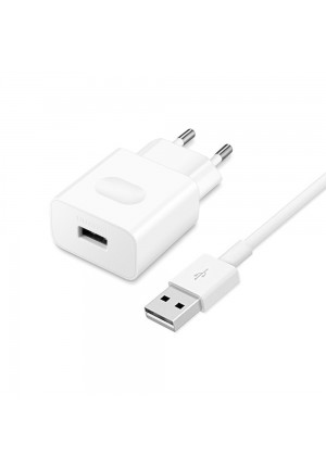 Huawei USB Type C Cable & Wall Adapter Λευκό (HW-00500200E1) Bulk