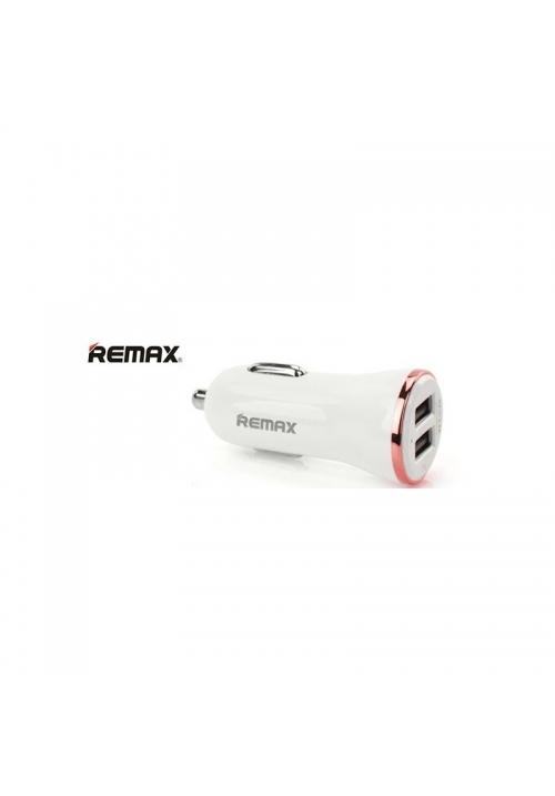 Φορτιστής Αυτοκινήτου Remax Dolfin 2xUsb 2.4A Rose Gold