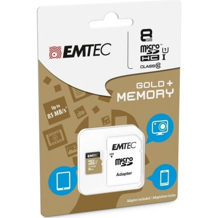 MICRO SD EMTEC (WITH ADAPTOR) 8...