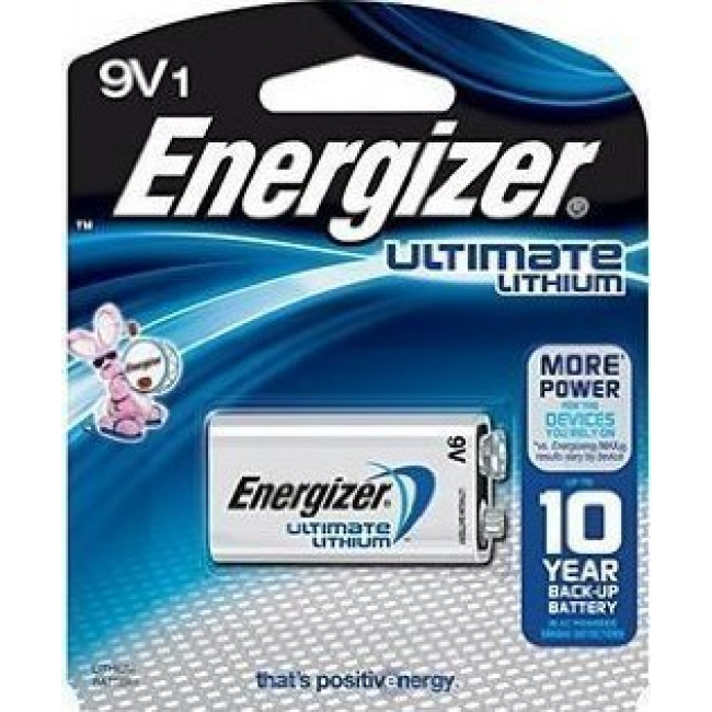 ENERGIZER ULTIMATE LITHIUM 9V BLOCK BLISTER