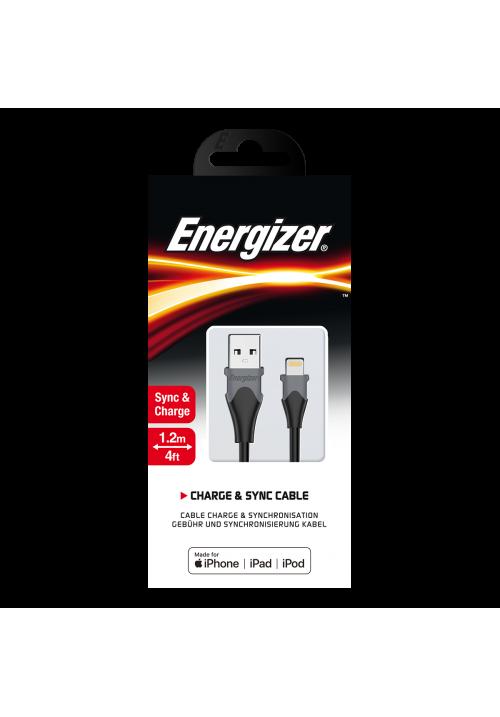 Καλώδιο Φόρτισης Energizer Lightning Bicolor 1.2m Black (C61LIGBK4)