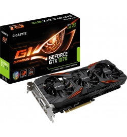 VGA GIGABYTE GEFORCE GTX1070 G1 GAMING 8GB GV-N1070G1 GAMING-8GD REV 2.0