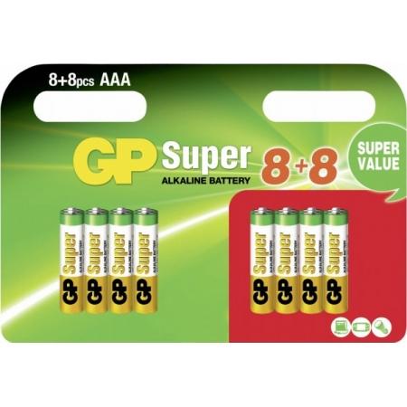 GP SUPER ALKALINE AAA LR03 (8+8...