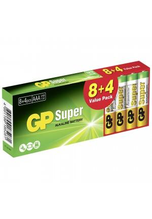 GP SUPER ALKALINE AAA LR03 MICRO BLOCKBUSTER (8+4 τμχ)