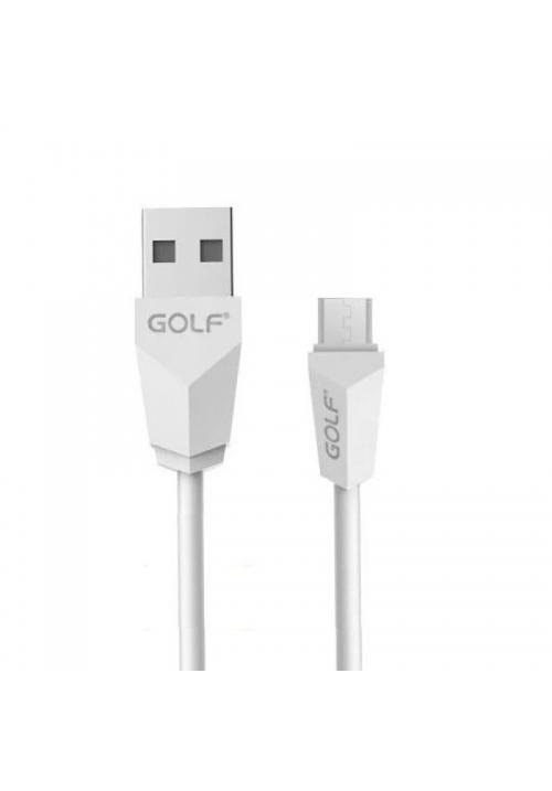 Καλώδιο φόρτισης Golf Usb-Micro Usb White (6959072766199)