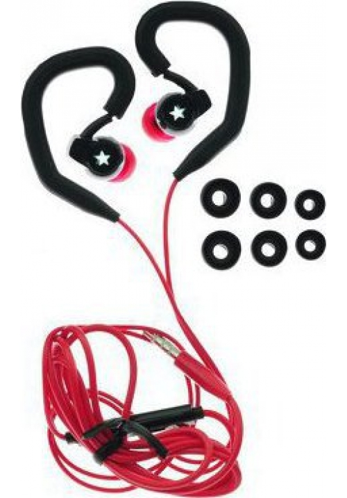 HANDSFREE BLUE STAR SPORT SP80 UNIVERSAL 3.5mm BLACK/RED