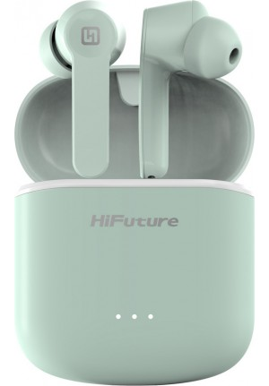 BLUETOOTH HIFUTURE FLYBUDS WIRELESS EARPHONES WITH CASE GREEN FLYBUDS-GN