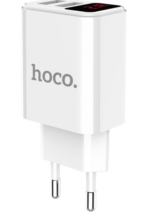 Hoco 2x USB Wall Adapter Λευκό (C63A Victoria)