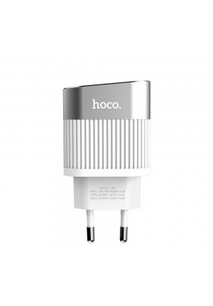 Hoco 2x USB Wall Adapter Λευκό (C40A Speedmaster)