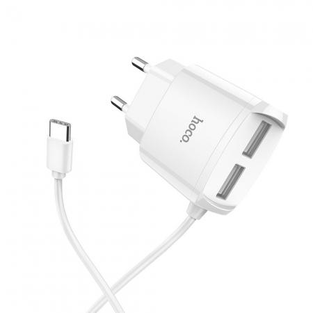 Hoco USB-C & 2x USB Wall Ch...