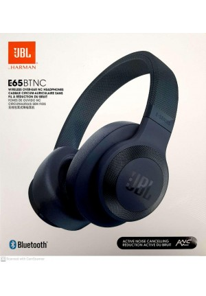 JBL E65BTNC BLUETOOTH HEADPHONES BLUE