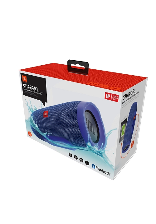 JBL CHARGE 3 BLUETOOTH WIRELESS SPEAKER BLUE (ΜΕ ΑΝΤΑΠΤΟΡΑ)