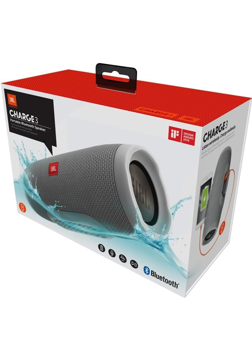 JBL CHARGE 3 BLUETOOTH WIRELESS SPEAKER GRAY