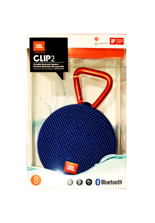 JBL CLIP 2 PORTABLE BLUETOOTH SPEAKER BLUE