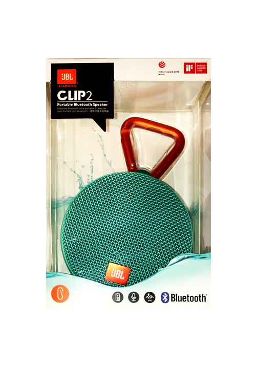 JBL CLIP 2 PORTABLE BLUETOOTH SPEAKER TEAL