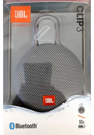 JBL CLIP 3 PORTABLE WATERPROOF BLUETOOTH SPEAKER IPX7 GREY