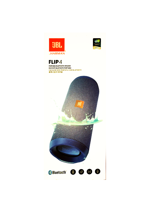 JBL FLIP 4 PORTABLE BLUETOOTH SPEAKER BLUE