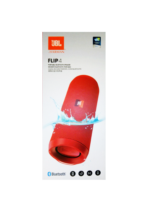 JBL FLIP 4 PORTABLE BLUETOOTH SPEAKER RED