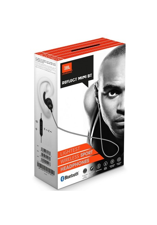 JBL REFLECT MINI BLUETOOTH WIRELESS HANDFREE BLACK