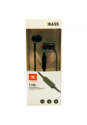 JBL T110 IN-EAR HANDSFREE BLACK