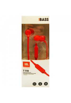 JBL T110 IN-EAR HANDSFREE RED