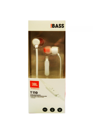 JBL T110 IN-EAR HANDSFREE WHITE