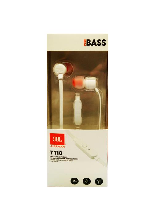 JBL T110 IN-EAR HANDSFREE WHITE