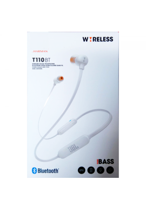 JBL T110BT BLUETOOTH WIRELESS HANDFREE WHITE