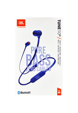 JBL T110BT BLUETOOTH WIRELESS HANDFREE BLUE