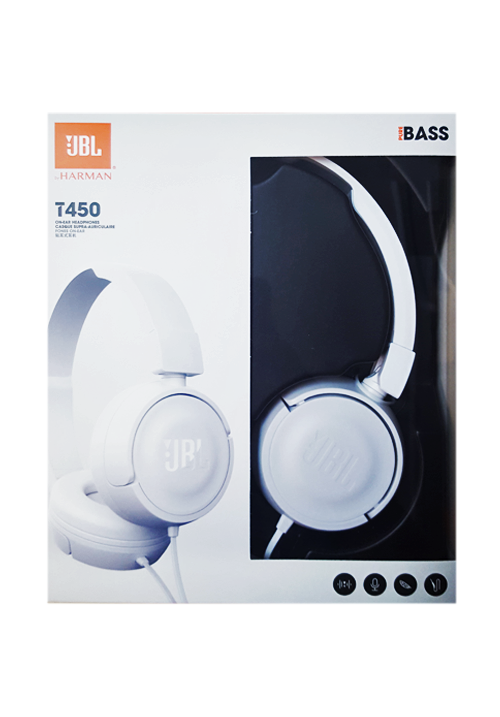 JBL T450 HEADPHONES WHITE
